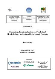 Production, Functionalization and Analysis of Hemicelluloses for ...