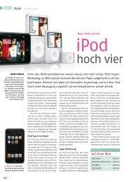 TesT iPods - Macwelt