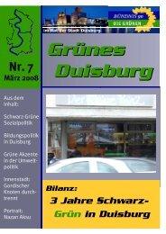 kêK=T j®êò=OMMU - GRÜNE Fraktion Duisburg
