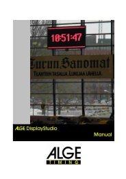 ALGE Displaystudio Manual
