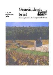 Gemeindebrief August/September 2011 - Evangelische Kirche Asslar