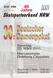 40 Jahre Skatsportverband NRW - DSkV