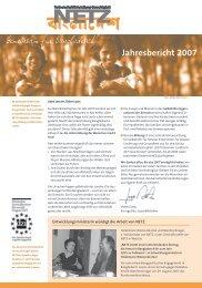 Jahresbericht 2007 - NETZ eV Partnerschaft für Entwicklung und ...