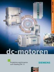 Projektierungshinweise zum Katalog DA 12 DC-Motoren