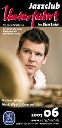 Mark Wyand Quartet - Jazzclub Unterfahrt München Homepage
