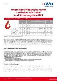 Lasthaken mit Gabel und Sicherungsfalle HKS downloaden ... - KWB