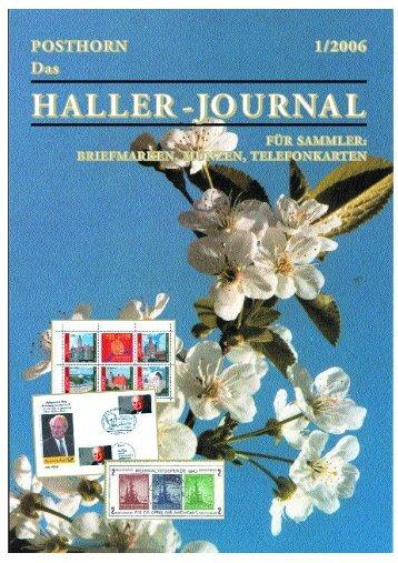 HALLER-Journal 2006 Ausgabe 1 (1.64 MB) - Briefmarken HALLER