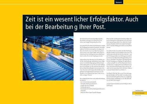 3-1-2 Infoblatt der Post Automationsfähige Briefsendungen