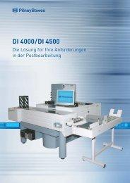 DI 4000 / DI 4500 - Pitney Bowes Deutschland GmbH
