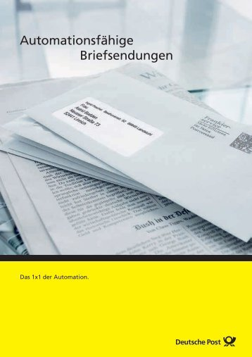 Automationsfähige Briefsendungen - Deutsche Post