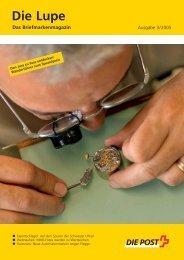 Die Lupe 03/2005 - Ausgabe Juli 2005Link - Die Schweizerische Post