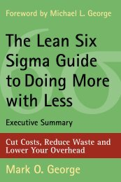The Lean Six Sigma Guide todoing More with Less