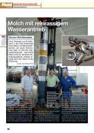 Molch mit reinrassigem Wasserantrieb - wasser-hydraulik.de