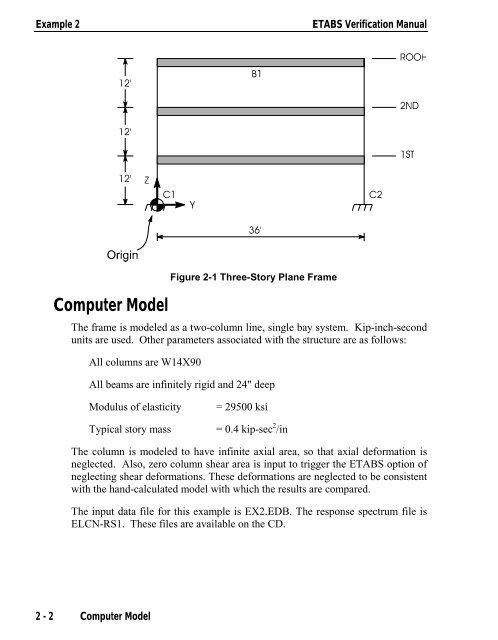 Example 2 ETABS V