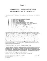 model smart land development regulations with commentary