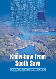 Know-how from South Savo - Export Guide