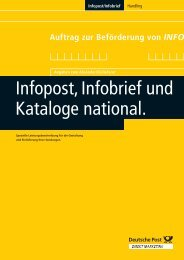 INFOPOST/Kataloge - direkt-mailing.de - Konzeption und Produktion ...