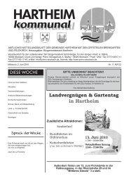 Landvergnügen & Gartentag in Hartheim - Gemeinde Hartheim