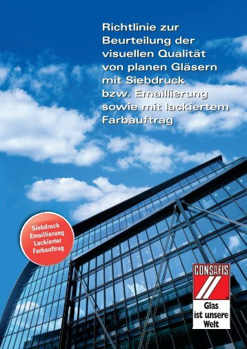 CONSAFIS Richtlinien zur visuellen Qualität von planen ... - Schlatt