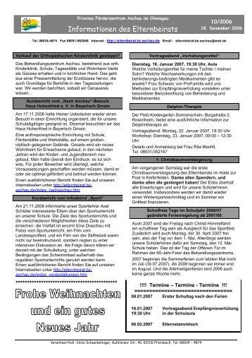 Informationen des Elternbeirats - Elternbeirat am BZ Aschau i ...