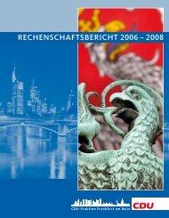Rechenschaftsbericht 2006-2008 der CDU Fraktion Frankfurt am Main