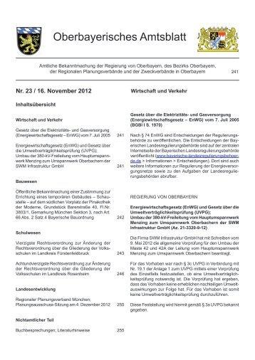 Oberbayerisches Amtsblatt - Regierung von Oberbayern