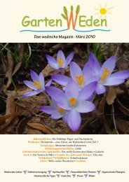 Das wedische Magazin . März 2010 - Garten Weden