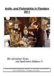 Antik- und Flohmärkte in Flandern 2011 - Presse