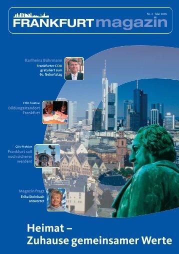 Heimat – Zuhause gemeinsamer Werte - CDU Fraktion Frankfurt am ...