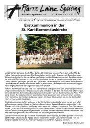 Erstkommunion in der St. Karl-Borromäuskirche - Pfarre Lainz ...