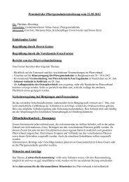Protokoll der Pfarrgemeinderatssitzung vom 22.05 ... - Pfarrverband
