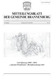 MITTEILUNGSBLATT DER GEMEINDE BRANNENBURG