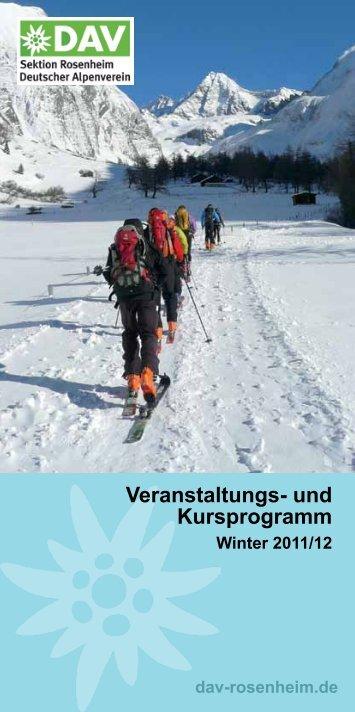Veranstaltungs- und Kursprogramm - Sektion Rosenheim