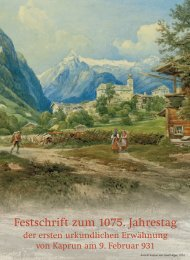 Festschrift zum 1075. Jahrestag der ersten ... - Burg Kaprun