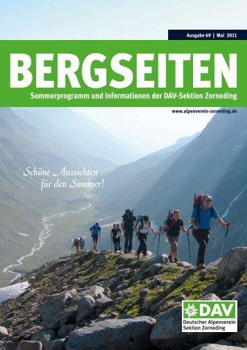 Unsere Tourenleiter im Überblick (Sommer 2011) - Alpenverein ...