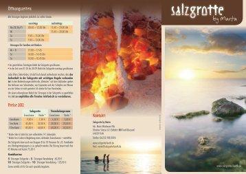 Wirkung und Nutzung der Salzgrotte