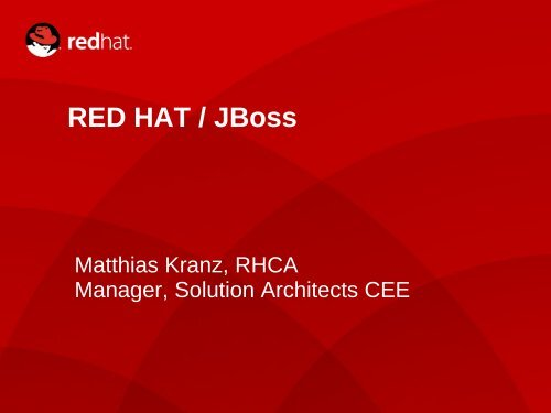 RED HAT / JBoss - FRANK Linux Systems