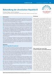 Behandlung der chronischen Hepatitis B - Swiss Medical Forum