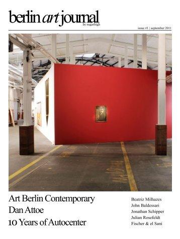 10 Years of Autocenter Art Berlin Contemporary ... - Nadine Dinter PR