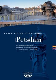(a price supplement applies); please inquire for other ... - Potsdam