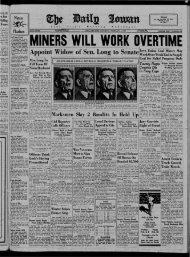 February 1 - The Daily Iowan Historic Newspapers - University of Iowa