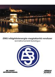 EMU világításienergia-megtakarító rendszer - termékbemutató