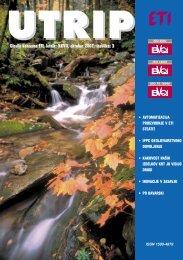 Glasilo koncerna ETI, letnik: XXVII, oktober 2007, {tevilka: 3