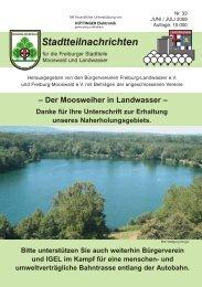 Stadtteilnachrichten Heft 33 - Bürgerverein Freiburg Mooswald eV