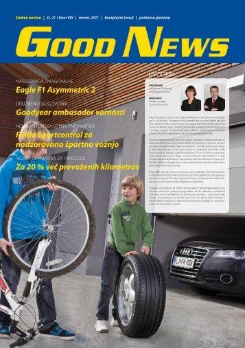 Eagle F1 Asymmetric 2 Goodyear ambasador varnosti Fulda ...