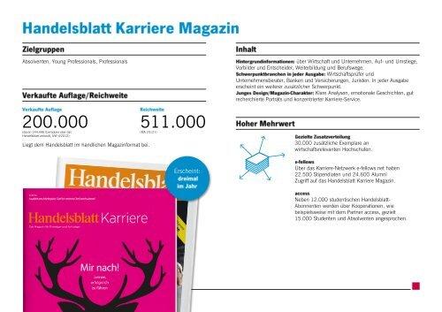 Handelsblatt Karriere Magazin Factsheet 2013 (PDF)