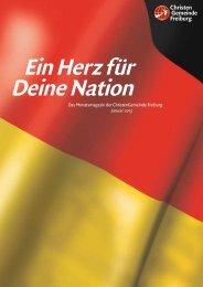 Das Monatsmagazin der ChristenGemeinde Freiburg Januar 2013