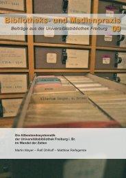 Die Altbestandssystematik der Universitätsbibliothek Freiburg i. Br ...
