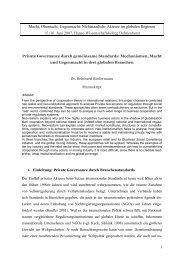 Macht, Ohnmacht, Gegenmacht: Nichtstaatliche Akteure im globalen ...