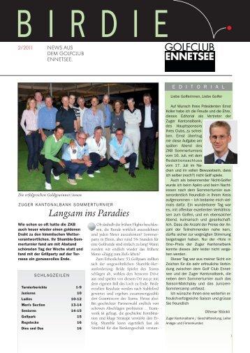 Birdie 2-11 - Golf Club Ennetsee